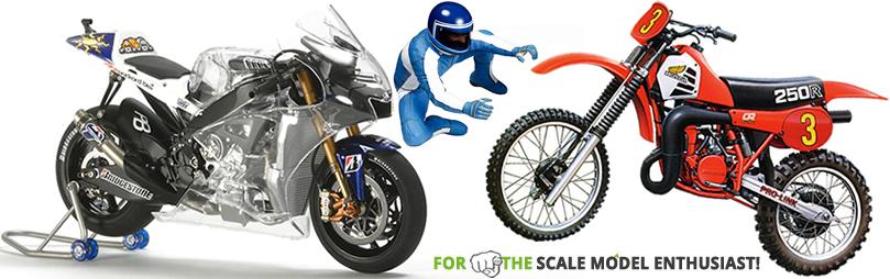 We stock the full range of Tamiya and Italeri Motorbike Plastic Model Kits.