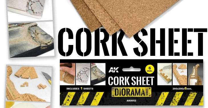 AK Interactive Cork Sheets