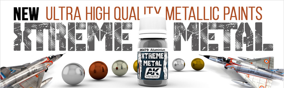 Ultra High Quality Metallic Paints AK Xtreme Metal.