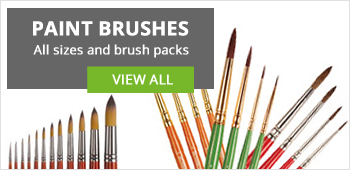 We sell professional quality brushes that are different shapes and sizes to paint your masterpiece.