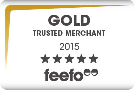Great News! We're a Feefo Gold Trusted Merchant 2015