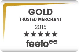 Great News! We're a Feefo Gold Trusted Merchant