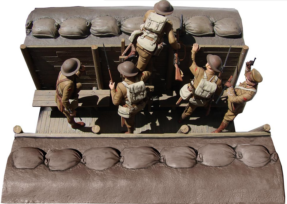 Masterbox 1/35 British Infantry, Before the attack, WWI
