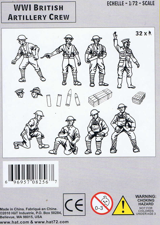 Artillery Crew British 1:72-8256 Hat WWI