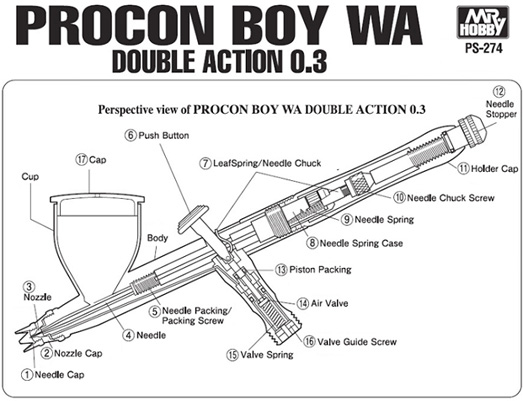 Mr Hobby Mr Procon Boy WA Double Action 0.3mm # PS-274