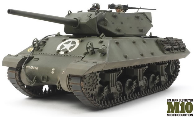 Tamiya 1/35 U.S. Tank Destroyer M10 Mid Production # 35350 - Model Kit
