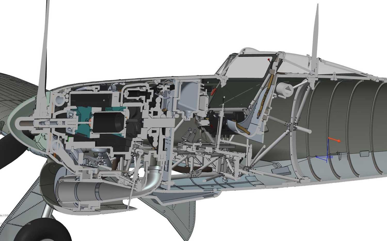 Airfix 1/24 Hawker Typhoon 1B - Car Door # 19003
