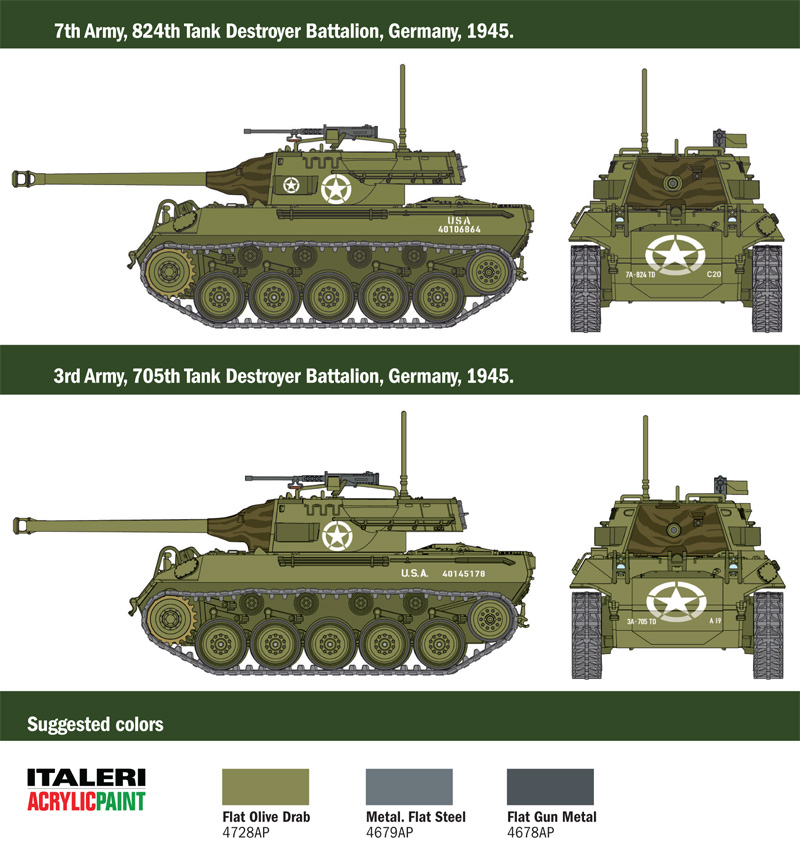 Italeri 1/56 M18 HELLCAT # 15762