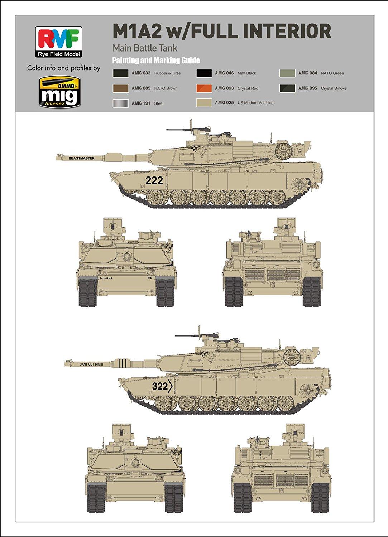Rye Field Models 1/35 M1A1/ A2 Abrams w/ Full Interior 2 in 1 # 5007