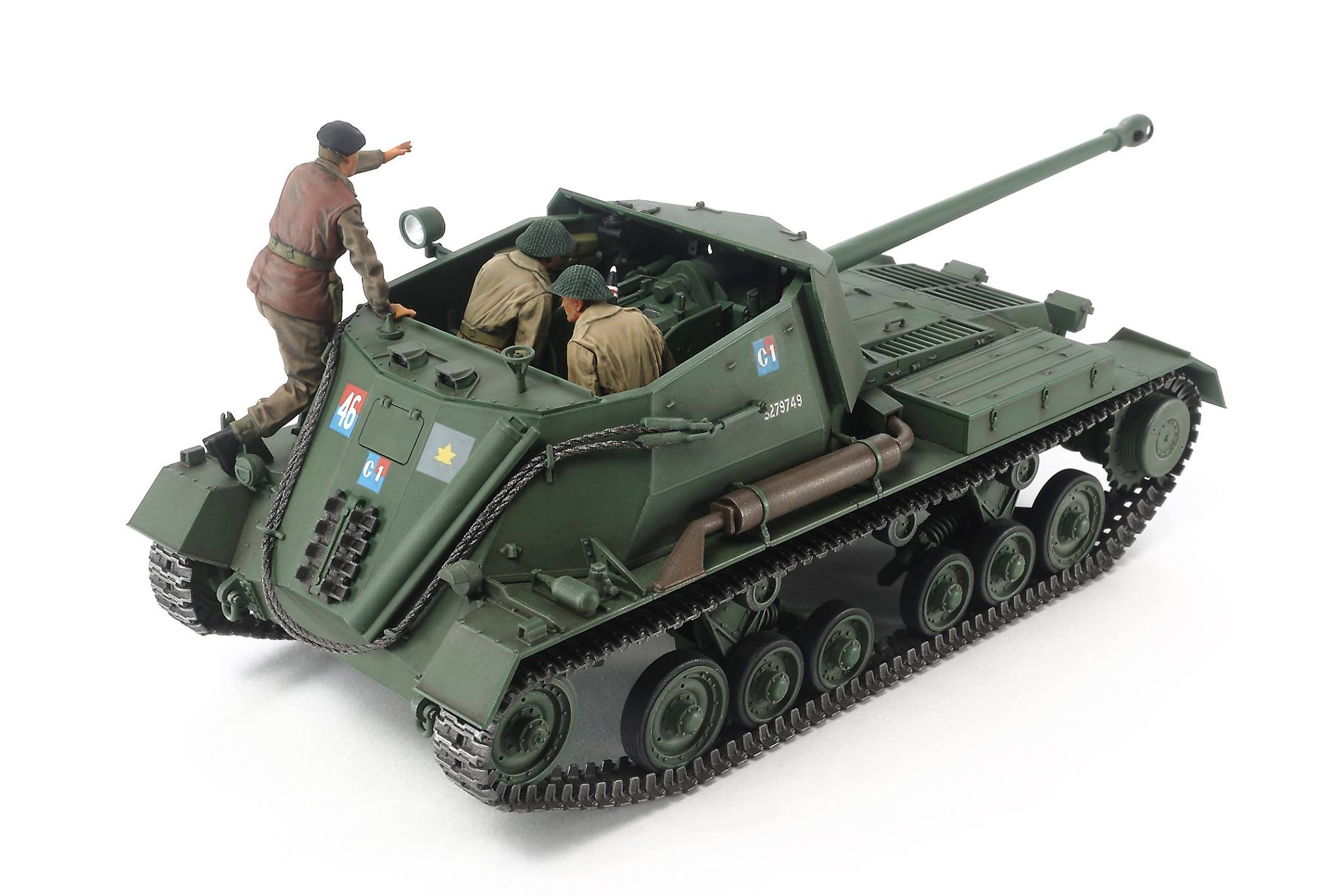 tamiya 1 35 british anti tank gun archer self propelled 35356