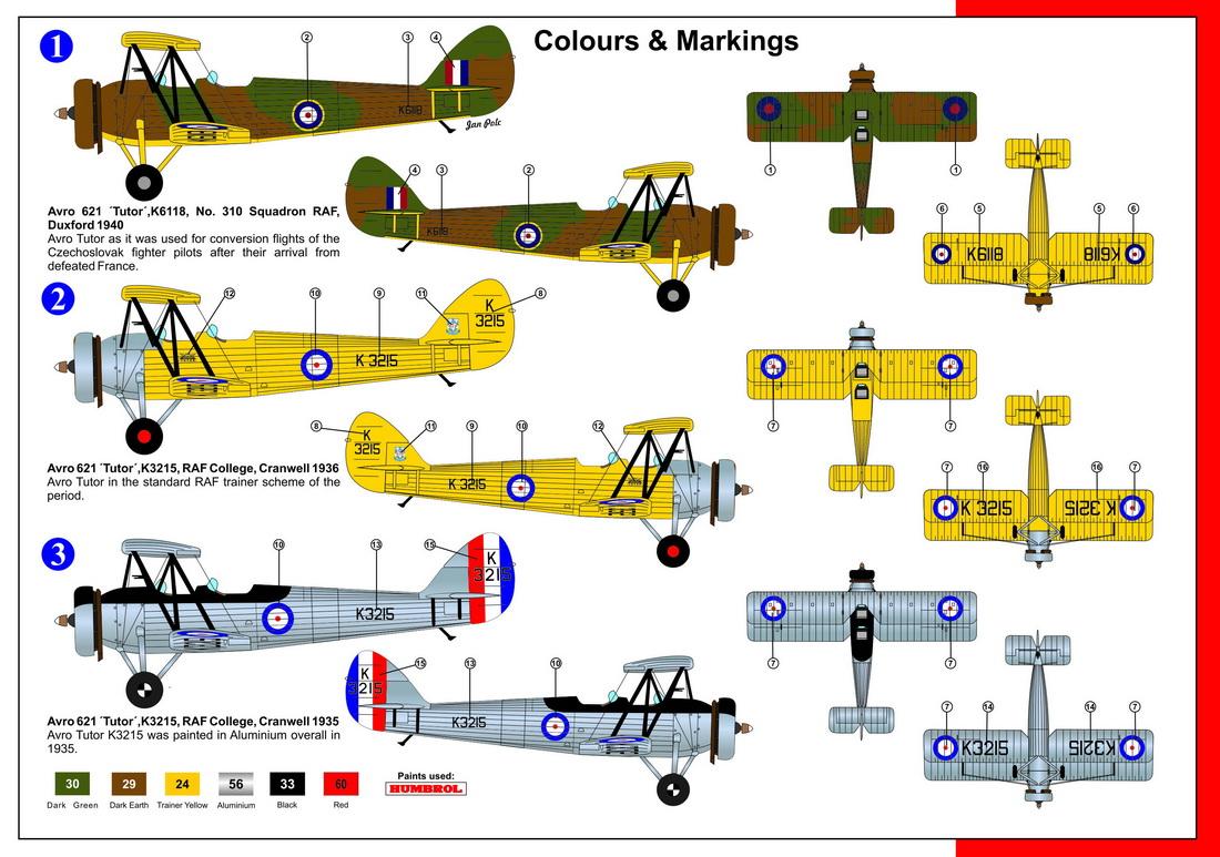AZ Model 1/72 British Avro Tutor Mk.I # 7549