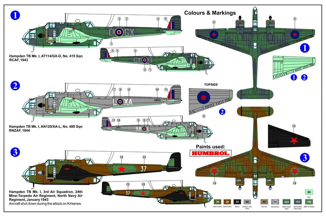 AZ Model 1/72 Handley-Page Hampden TB Mk.I # 7555