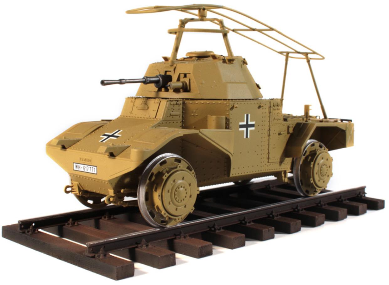 ICM 1/35 Panzerspähwagen P 204 (f) Railway, WWII German Armoured Vehicle # 35376