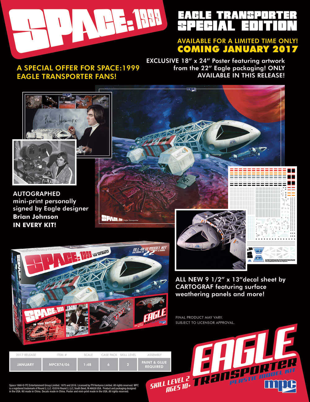 MPC 1/48 SPACE:1999 EAGLE TRANSPORTER (SPECIAL EDITION) # MPC874