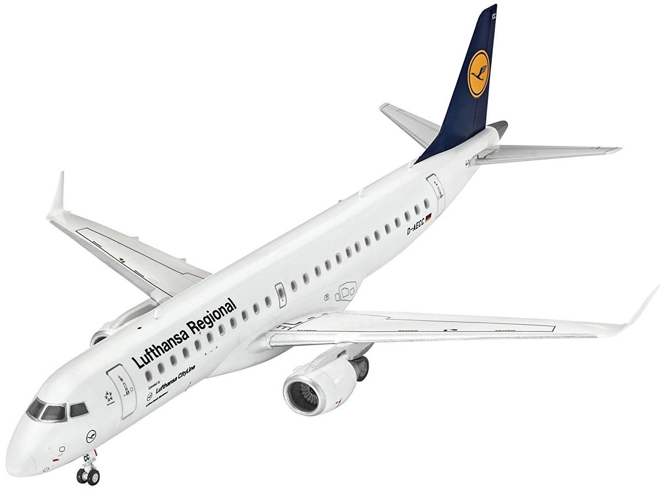 """Revell 1/144 Embraer 190 """"Lufthansa"""" # 03937"""