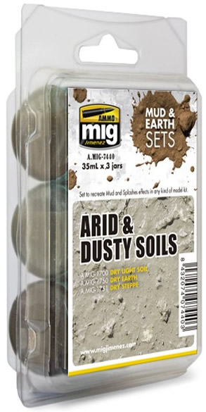 Ammo by Mig 35ml 3x Arid & Dusty Soils Set # 7440