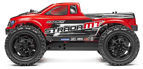 Maverick 1/10 Strada MT Red Brushless RTR Monster Truck  # 12623
