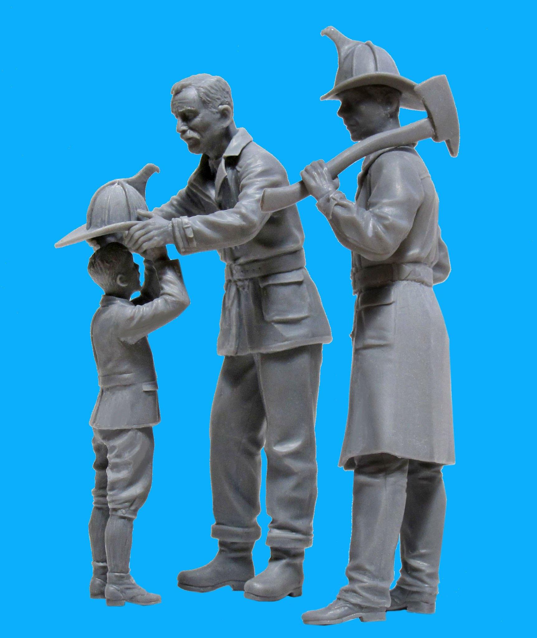 ICM 1/24 American Firemen (1910s) (2 figures) # 24005