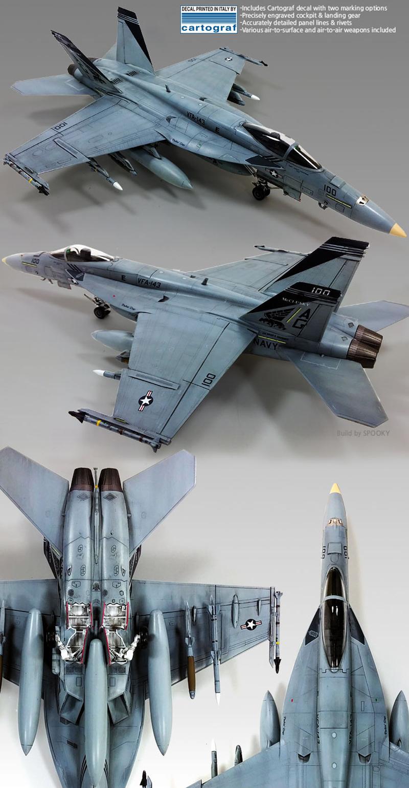 Academy 1/72 F/A-18 USN VF-143 Pukin Dogs # 12547