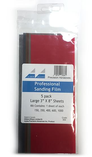 Albion Alloys Professional Sanding Film Kit # 369