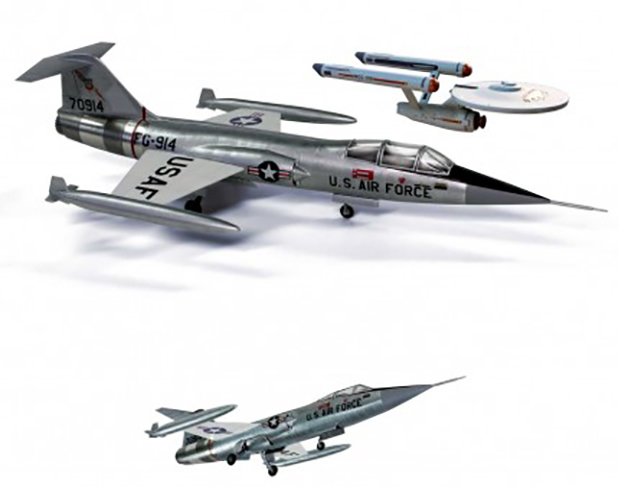 AMT 1/48 Lockheed F-104 Starfighter - Star Trek TOS 'Tomorrow is Yesterday' # 953