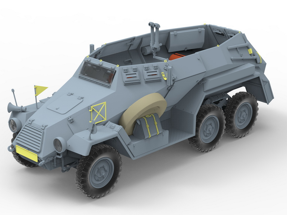 Bronco Models 1/35 Sd.Kfz.247 Ausf.A German Armored Command Car # 35095