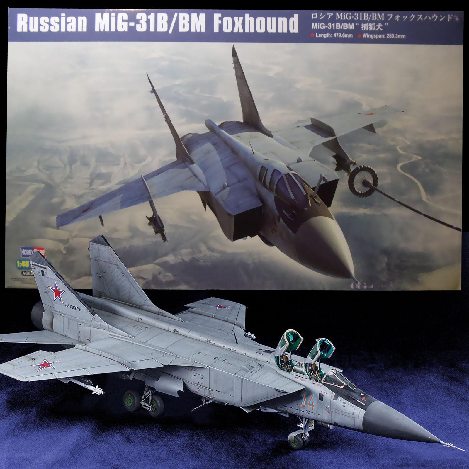 Hobbyboss 1/48 Russian Mig-31B/BM Foxhound # 81754