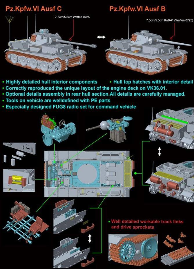 Revosys 1/35 Pz.Kpfw.VI Ausf C/B (VK36.01) # RS3001