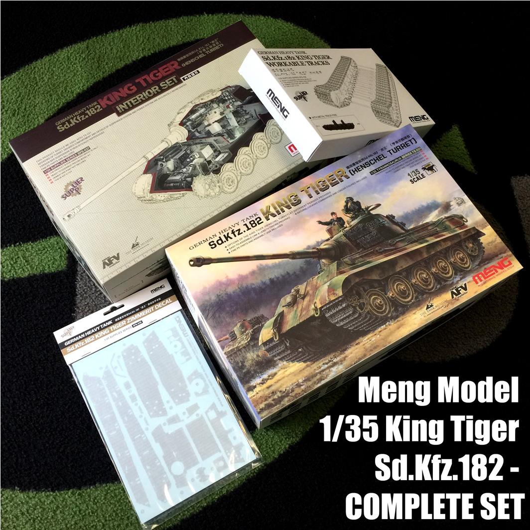 Meng Model 1/35 King Tiger Sd.Kfz.182 - COMPLETE SET