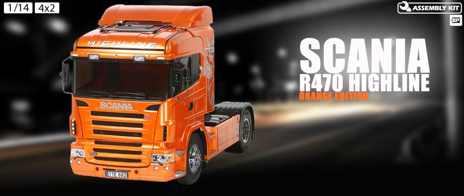 Tamiya 1/14 Scania R470 Highline - Orange Edition # 56338