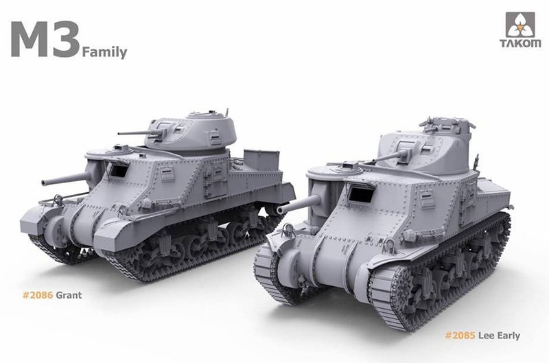 Takom 1/35 M3 Grant British Medium Tank # 02086