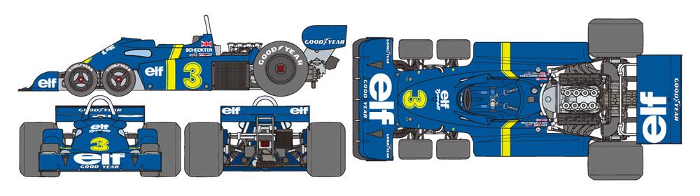 Tamiya 1/12 Tyrrell P34 Six Wheeler (w/Photo-Etched Parts) # 12036