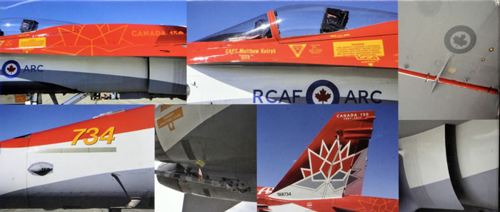 Kinetic Model Kits 1/48 McDonnell-Douglas CF-188A Royal Canadian Air Force Demo 2017 # 48070