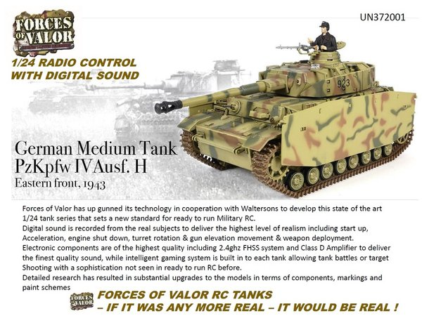 Forces Of Valor 1/24 RC Radio Control German Tiger Tank # 372004