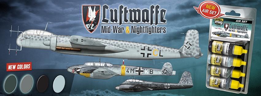 Ammo By Mig Jimenez Luftwaffe Mid War Set # 7220