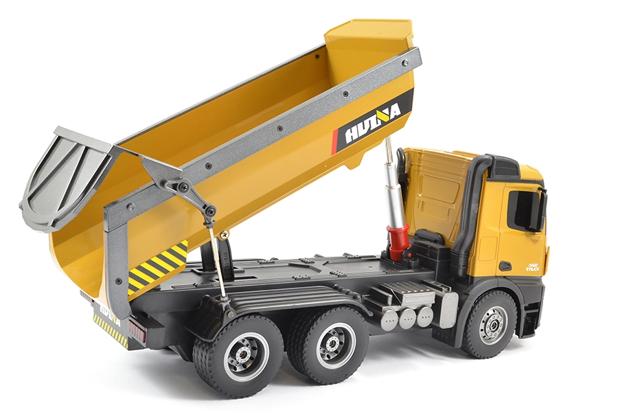 Huina RC 1/14 Tipper/dump Truck 2.4G 10ch w/ Die Cast Cab, Buckets And Wheels # 1573