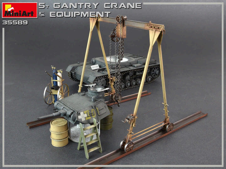 Miniart 1/35 5 Ton Gantry Crane & Equipment # 35589