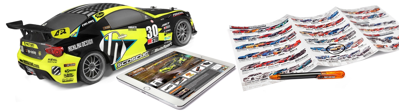 HPI Racing 1/10 E10 Michele Abbate GRR Racing Touring Car # 120090
