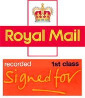 Royal Mail First Class Signed For